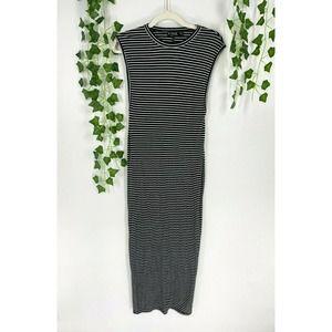Rehab Stripe Print Knit Maxi Dress Sleeveless